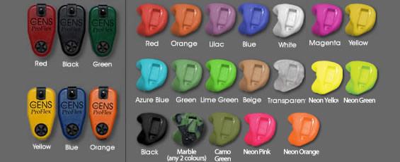 Χρώματα Ψηφιακών ωτοασπίδων για κυνηγούς και σκοπευτές